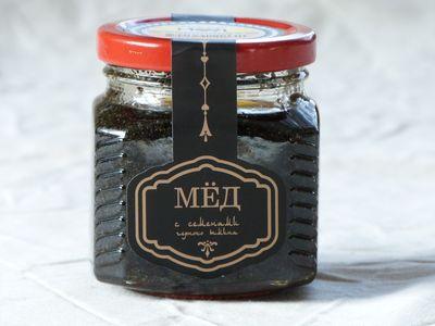Мёд с семенами черного тмина